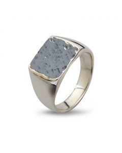 Cushion Hammered Sterling Sølv Ring fra By Birdie