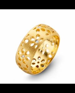 Spirit Icons Flora Ring i Forgyldt Sølv S51162