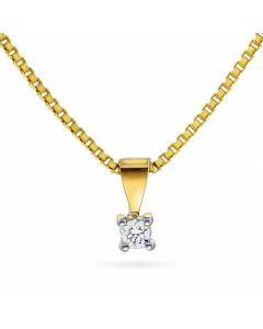 Nordlie Min Første Diamant 14 Karat Guld Vedhæng med Diamant 0,05 Carat W/P