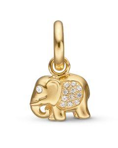Kranz & Ziegler Story Elefant Læder Charm 52081000