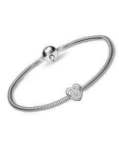 Christina Watches 20 Cm Marguerit Sterling Sølv Charm med Syntetisk Diamant