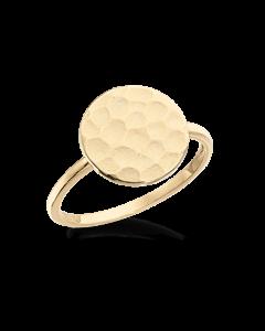 Scrouples Hamret Polet 8 Karat Guld Ring 711483