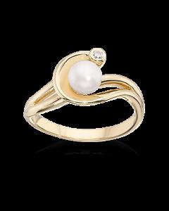 Scrouples 8 Karat Guld Ring med Perler 711603
