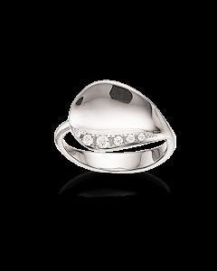 Rhodineret Sølv Ring fra Scrouples 725112