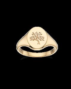Livets Træ Forgyldt Sølv Ring fra Scrouples 725162