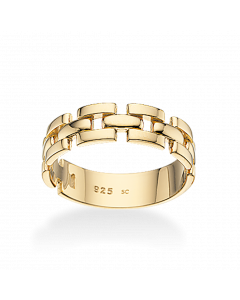 Mursten Forgyldt Sølv Ring fra Scrouples 725452