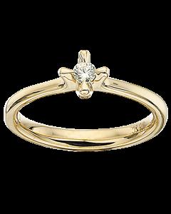 Scrouples Amore 14 Karat Guld Ring med Brillant 0,10 Carat TW/P1
