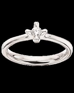 Scrouples Primo Amore 9 Karat Hvidguld Ring med Diamant 0,10 Carat