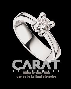 Carat Ring 0,25 ct. i 14 Karat Hvidguld fra Scrouples