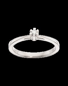 Prinsesse Ring 0,03 ct. i 14 Karat Hvidguld fra Scrouples
