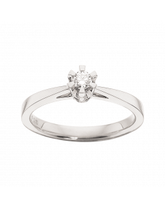 Prinsesse Ring 0,10 ct. i 14 Karat Hvidguld fra Scrouples