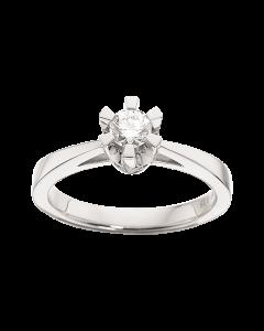 Prinsesse Ring 0,25 ct. i 14 Karat Hvidguld fra Scrouples