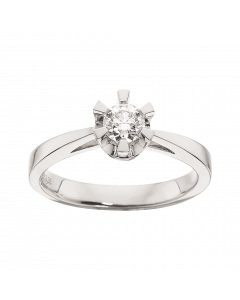 Prinsesse Ring 0,35 ct. i 14 Karat Hvidguld fra Scrouples