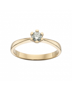 Vida 14 Karat Guld Ring fra Scrouples med Diamant 0,20 Carat H-W/P1