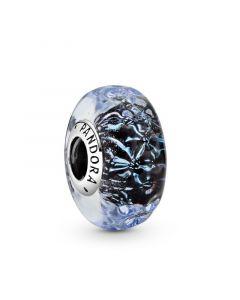 Wavy Sterling Sølv Charm fra Pandora med Glas 798938C00