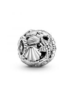 Shell & Starfish Sterling Sølv Charm fra Pandora