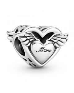 Pandora Heart & Wings Sterling Sølv Charm 799367C00