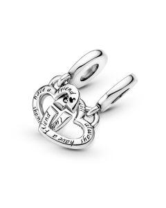 Pandora Sister Heart Sterling Sølv Charm 799538C01