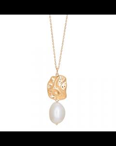Nordahl Andersen Baroque52 Halskæde i Forgyldt Sølv med Perle