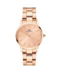 Daniel Wellington ADW00100401 - Fint dameur 28 MM Iconic Link Unitone Rose Gold