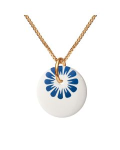 Scherning Bloom Ultramarine Forgyldt Sølv Halskæde