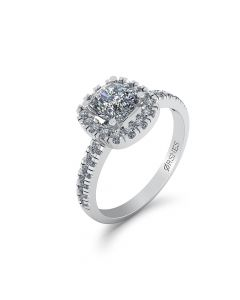 14 Karat Hvidguld Ring fra Henrik Ørsnes Design med Brillanter 0,96 Carat W/SI