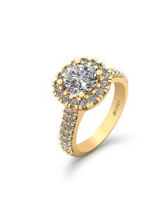 Henrik Ørsnes Design 14 Karat Guld Ring med Brillanter 1,50 Carat TW/SI