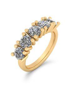 14 Karat Guld Ring fra Henrik Ørsnes Design med Brillanter 1,50 Carat W/VVS