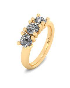 14 Karat Guld Ring fra Henrik Ørsnes Design med Brillanter 1,05 Carat W/VVS