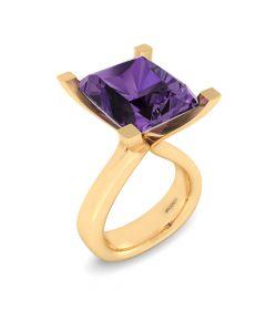 14 Karat Guld Ring fra Henrik Ørsnes Design med Ametyst