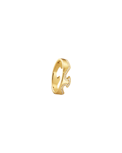 Georg Jensen Fusion Ende Ring i 18 Karat Guld med Diamanter 0,15 - 0,21 Carat TW/VS