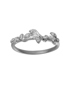 byBiehl Jungle Ivy Sparkle Ring i Sterling Sølv 5-3102A-R