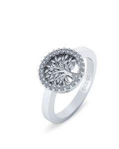 Livets Træ Sterling Sølv Ring fra Smykkekæden ORSN016S