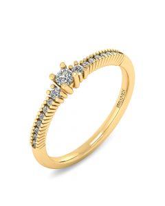 14 Karat Guld Ring fra Smykkekæden med Diamanter 0,272 Carat W/SI