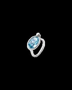 Georg Jensen Savannah Sterling Sølv Ring med Blå Topas