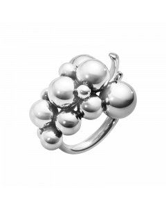 Georg Jensen Moonlight Grapes Mellem Sterling Sølv Ring