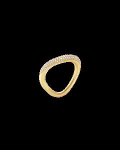 Offspring 18 Karat Guld Ring fra Georg Jensen med Brillanter 0,35 Carat TW/VS