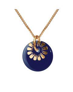 Bloom Ultramarine Gold Forgyldt Sølv Halskæde fra Scherning