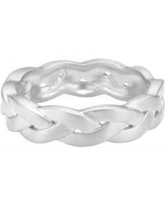 Braided Sterling Sølv Ring fra Enamel R34SM-H