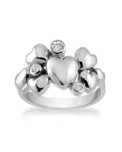 Heart Alliance Sterling Sølv Ring fra Rabinovich