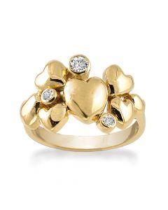 Rabinovich Ring i Forgyldt Sølv 63020370H