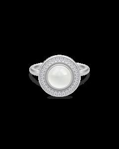Moon Goddess Sterling Sølv Ring fra Julie Sandlau med Hvid Månesten