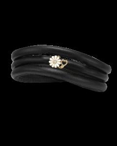 Christina Watches Kræftens Bekæmpelse Charm i Læder med Forgyldt Sølvcharm Og Laboratorieskabt Diamant