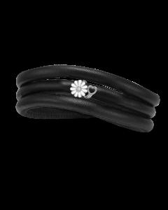 Christina Watches Kræftens Bekæmpelse Charm i Læder med Sølvcharm Og Laboratorieskabt Diamant