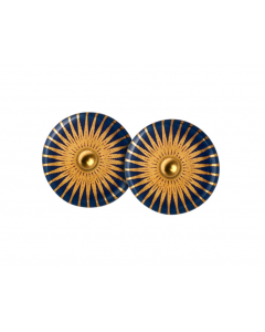 Splash Forgyldt Sølv Ørestikker fra Scherning med Midnight Gold Porcelæn
