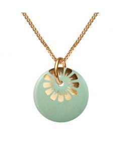 Scherning Bloom Forgyldt Sølv Halskæde med Aqua Gold Porcelæn