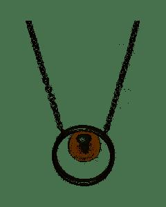 Skagen Kariana Halskæde i Sterling Sølv med Perle
