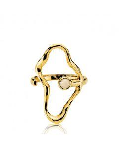 Sistie Shiny Gold Forgyldt Sølv Ring