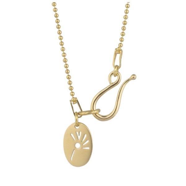 Image of   Ball Chain Forgyldt Sølv Halskæde fra Izabel Camille