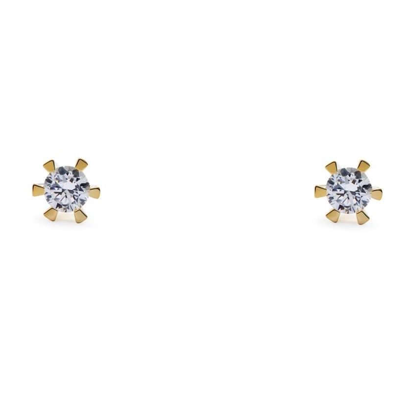 Image of   14 Karat Guld Ørestikker fra Smykkekæden med Diamanter DMB0106RG585